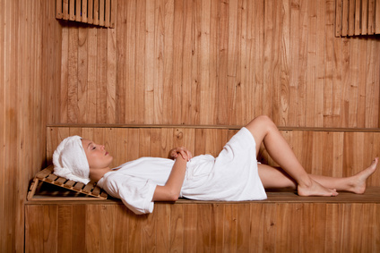optimale Position Sauna