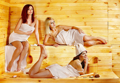 Spass in Sauna